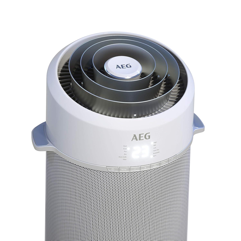 silber//wei/ß AEG PX71-265WT Eco Mobiles Klimager/ät Klimaanlage, AirSurround-Technologie, K/ühlleistung 2,6 kW, Heizfunktion, Ventilator, Entfeuchtungsfunktion, APP-Steuerung