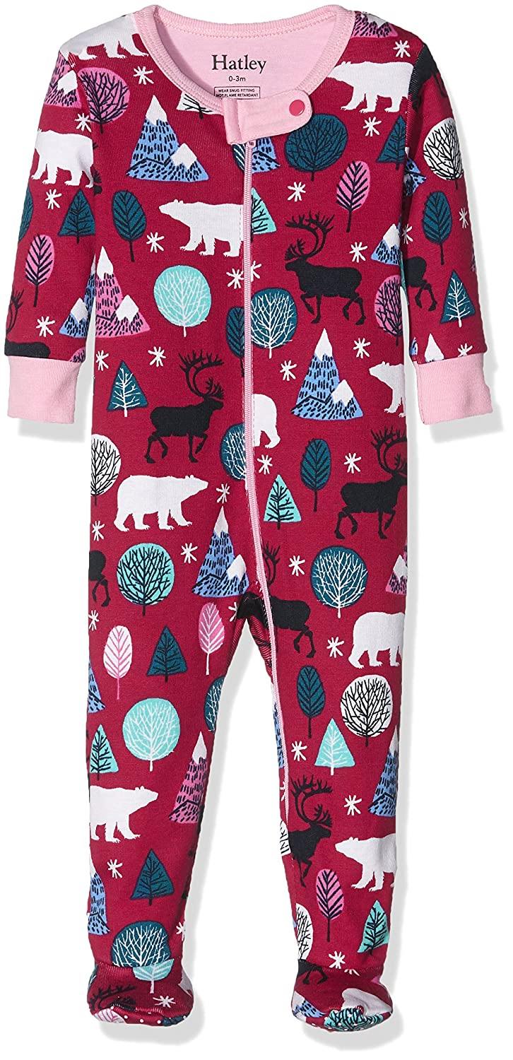 Hatley Baby Girls' Footed Coverall-Nordic Forest Footies 0-3 Months DR5NORD131