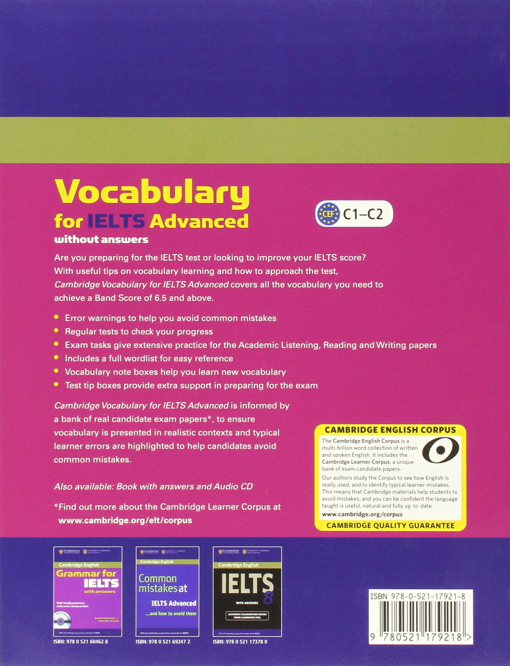 Cambridge English Vocabulary For Ielts Advanced Book In Pdf