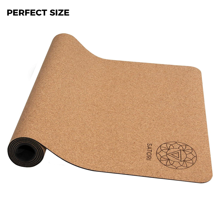 Amazon.com: Esterilla de yoga de corcho SatoriConcept, 100 ...