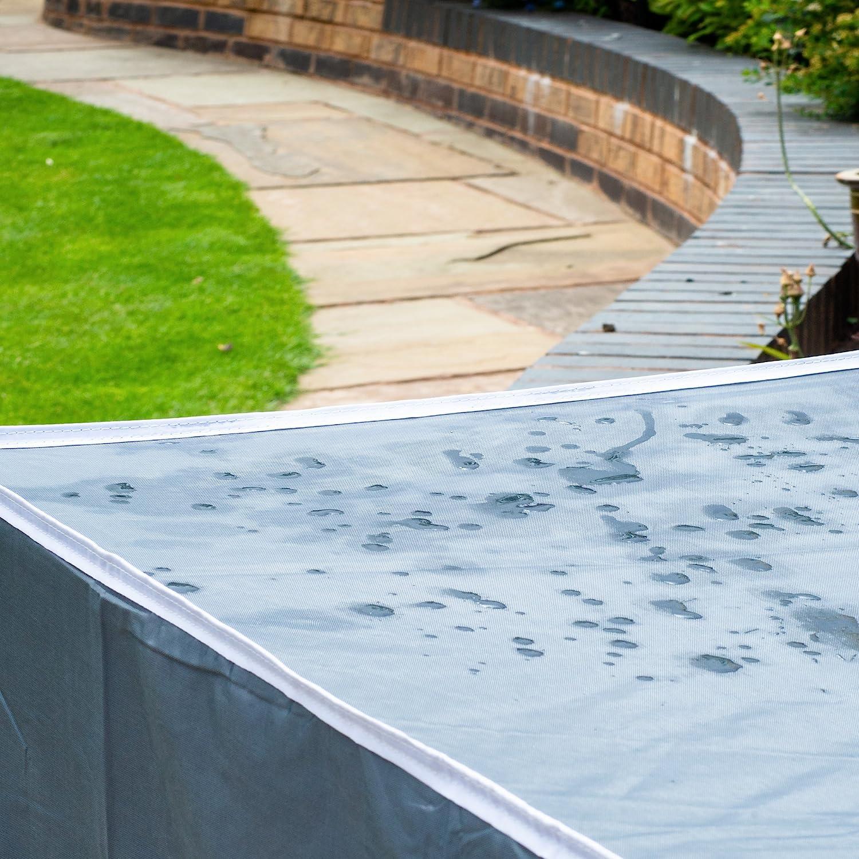 Funda para Muebles de Jardín - Cubierta de muebles de jardin - Funda de tejido Oxford 420D - 200 x 160 x 70 cm - Cubierta Protectora Rectangular
