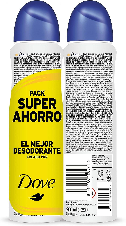 Dove - Pack Ahorro Desodorante Original (2 X 200 ml): Amazon.es ...