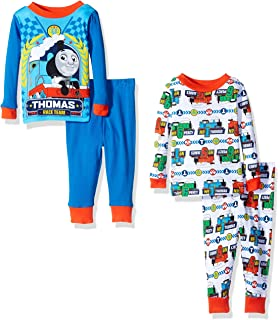 Thomas The Train Baby Boys 4-Piece Cotton Pajama Set with Choo