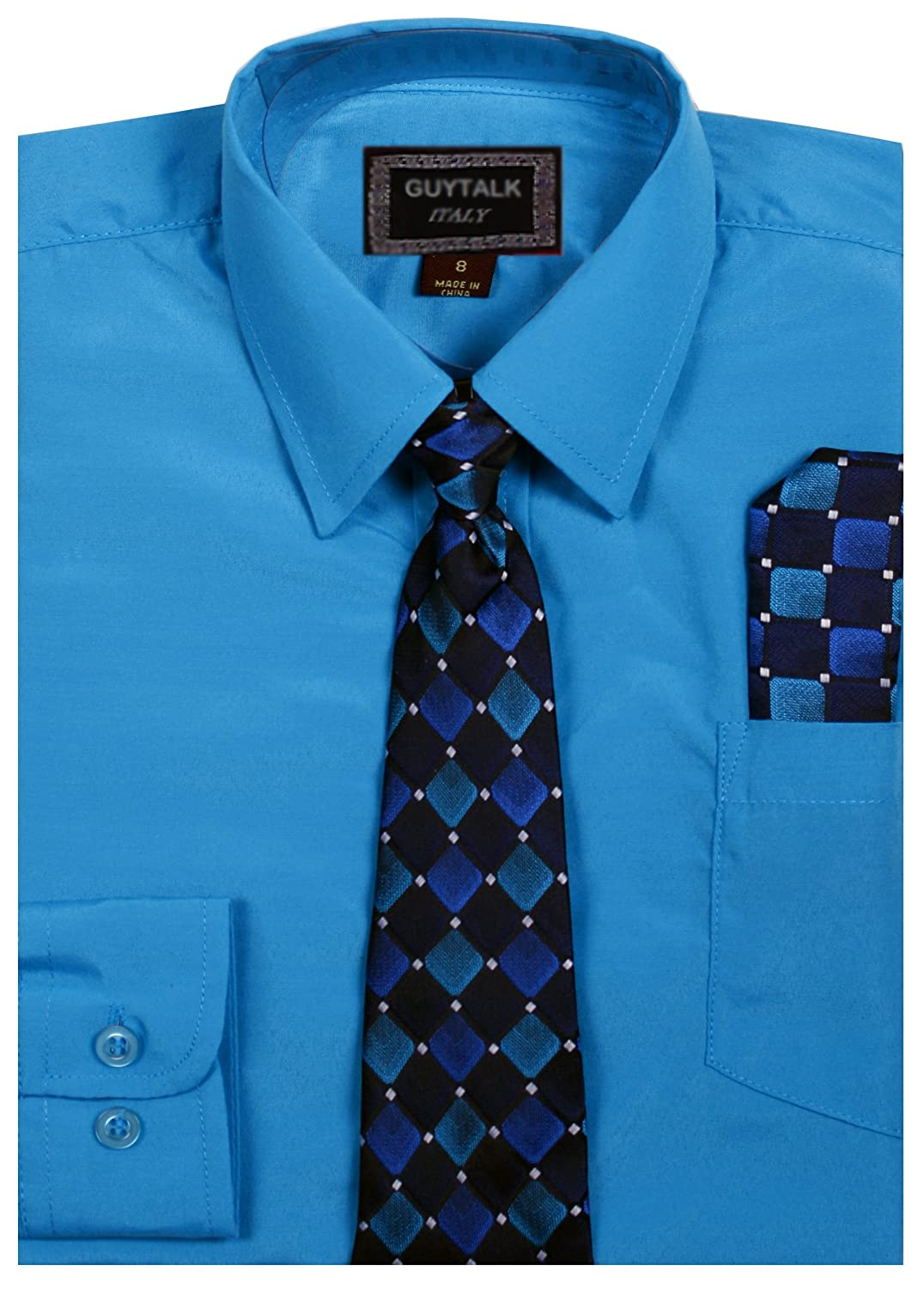 Boys Dress Shirt With Matching Tie 5 Colors Size 8 18 Bogu066