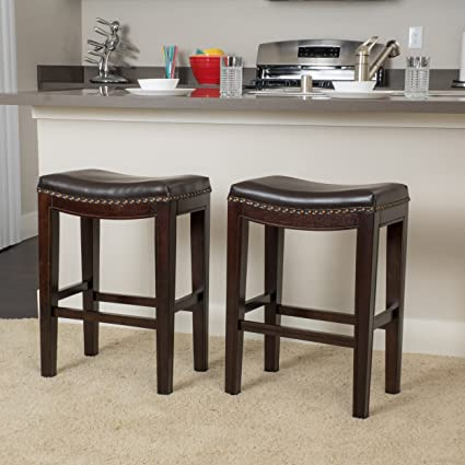 Great Deal Furniture Jaeden | Backless Faux Leather Counter Stool | Set Of  2 | In