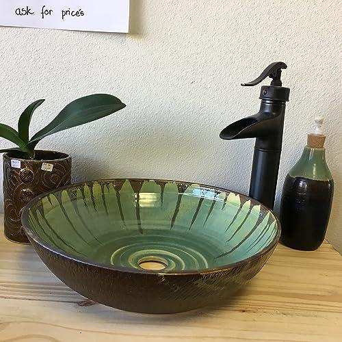 Jade And Black Walnut Vessel Sink
