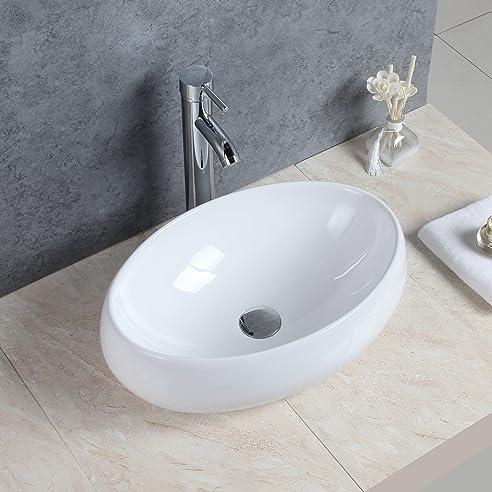 Gaga Oval Bowl Top Keramik-Waschbecken Porzellan Spüle Vessel ...