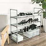 SHELVING SOLUTIONS 4 Tier Shoe Rack, Shoe Shelf Storage Organizer