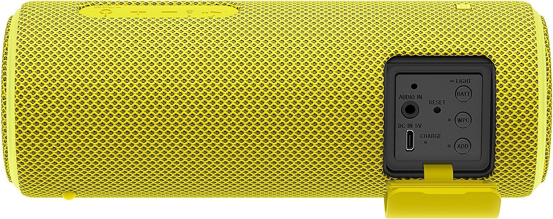 Altavoz port/átil Bluetooth Extra bass, modo sonido live, party booster, luces de fiesta llamativas color amarillo Sony SRSXB21Y