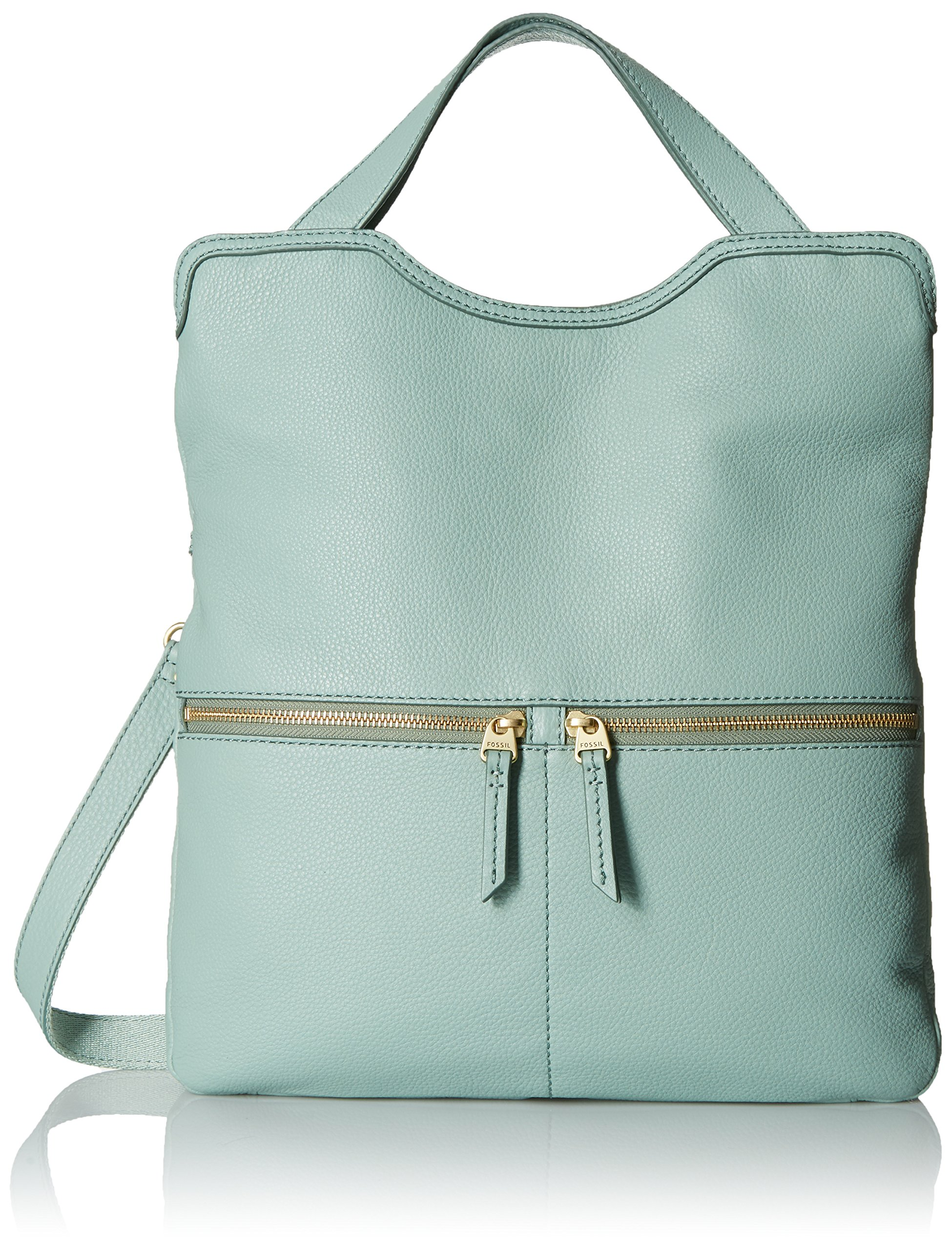 Fossil Erin Foldover Tote, Sea Glass, One Size by Fossil