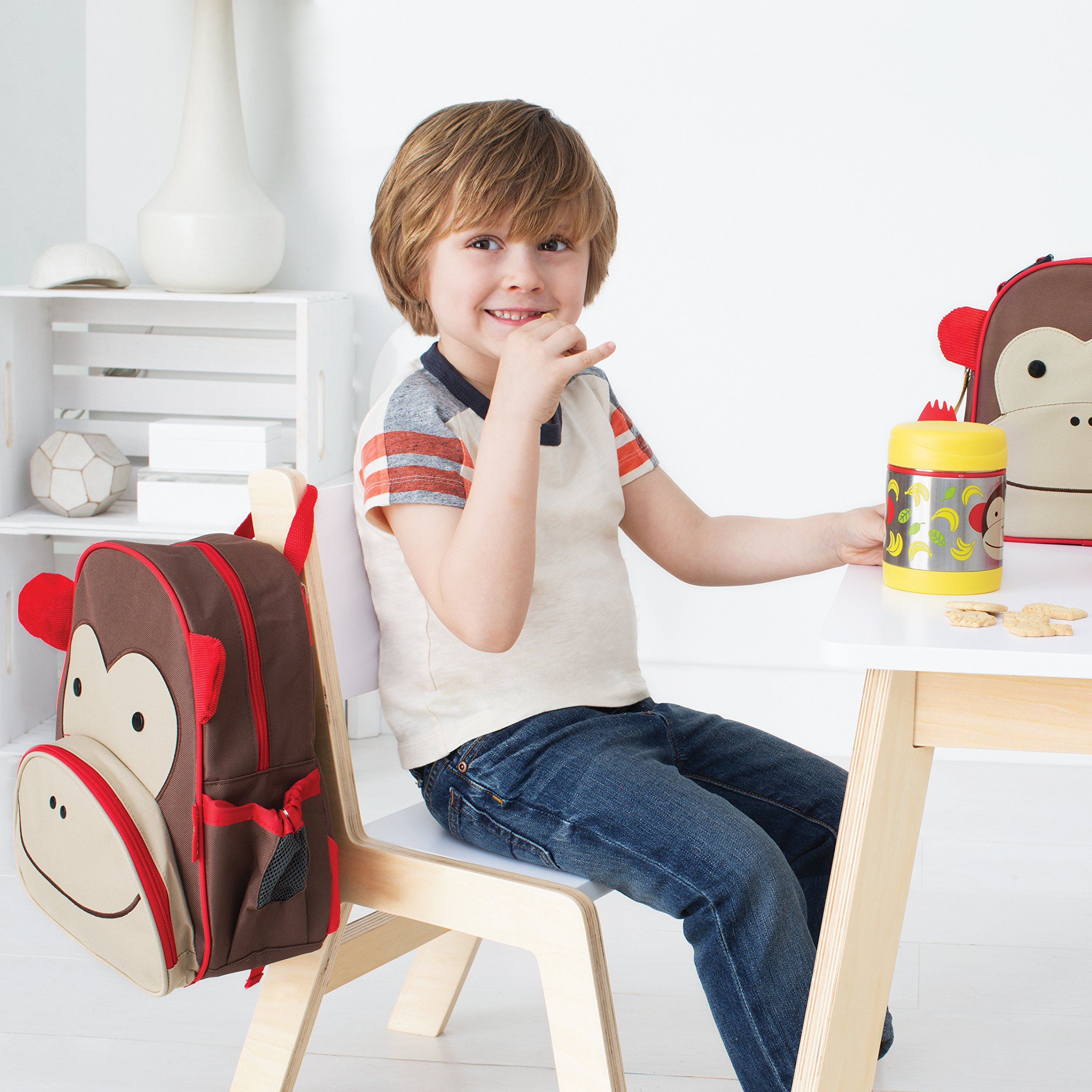Zoo Toddler Backpack Marshall Monkey, 12'' School Bag, by Skip Hop (Image #8)