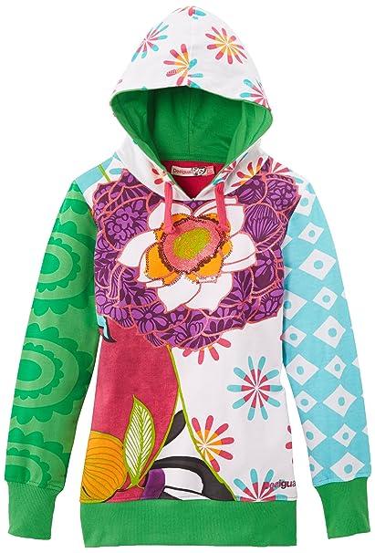 Desigual Guima - Sudaderas con capucha para niña, talla 6 años (116 cm), color blanco: Amazon.es: Ropa y accesorios