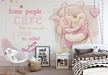 Disney Winnie Pooh Piglet Photo Wallpaper Wall Mural Easyinstall Paper Giant Wall Poster Xxl 312cm X 219cm Easyinstall Paper 3 Pieces