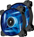 Corsair CO-9050031-WW Air Series SP120 LED 120mm Low Noise High Pressure LED Fan Dual Pack, Blue