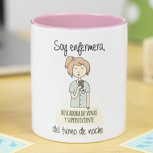 La Mente Es Maravillosa Taza Frase Y Dibujo Divertido Soy Enfermera Buscadora De Venas Y Superviviente Del Turno De Noche Regalo Enfermera