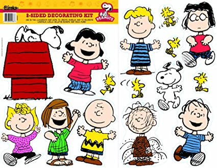 Amazoncom Eureka Peanuts Classic Characters Deco Kit 840227