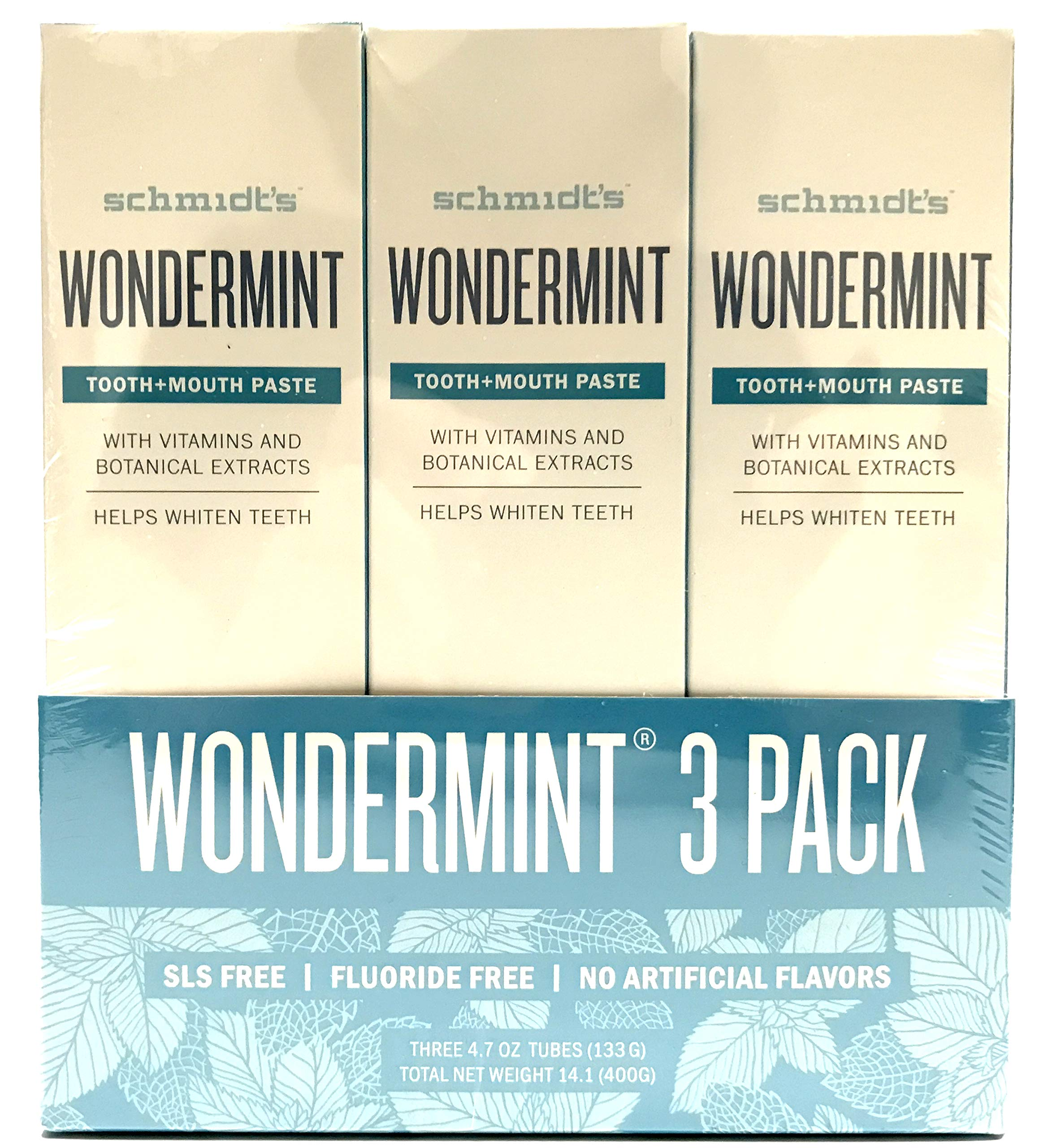 Schmidt's Wondermint Toothpaste, 4.70 oz | Pack of 3