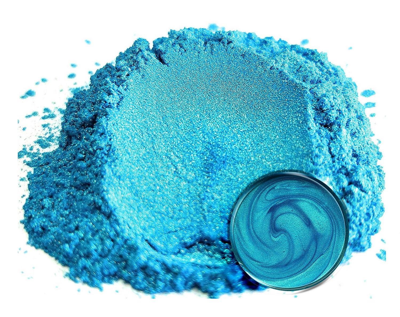 "Eye Candy Mica Powder Pigment ""Okinawa Blue"" (25 gr) Multipurpose DIY Arts and Crafts Additive   Natural Bath Bombs, Resin, Paint, Epoxy, Soap, Nail Polish, Lip Balm"