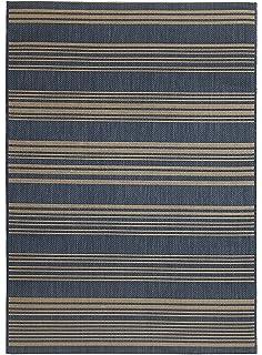 Fab Habitat Essentials Indoor/Outdoor Weather Resistant Floor Mat/Rug  Newport   Stripe (