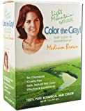 Light Mountain Natural: Color the Gray Conditioner, Medium Brown 7 oz