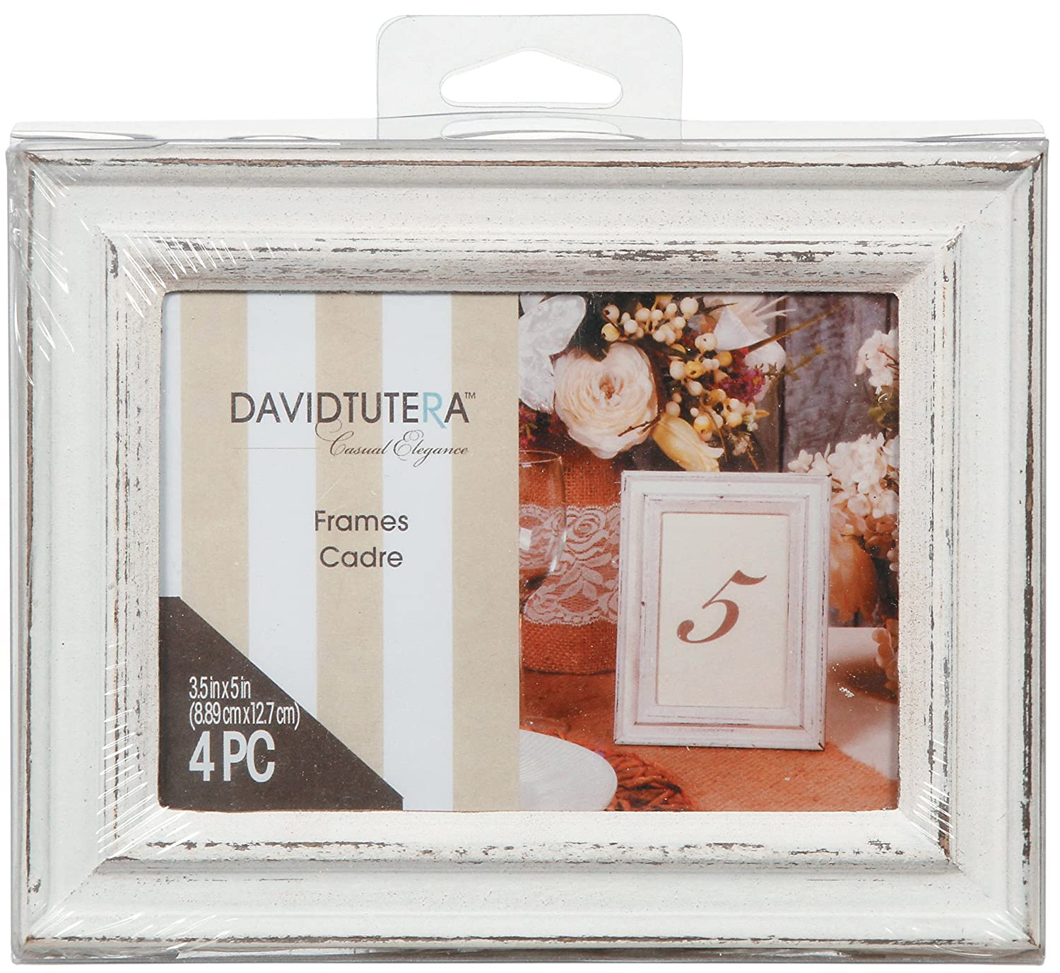 Amazon whitewashed distressed picture frames jeuxipadfo Choice Image