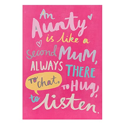 Amazon Hallmark Birthday Card For Aunty Second Mum