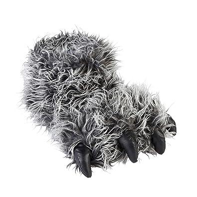 740e9e64b9f Jo   Joe Mens Older Boys Yeti Big Foot Monster Feet Grey Shaggy Fur Novelty