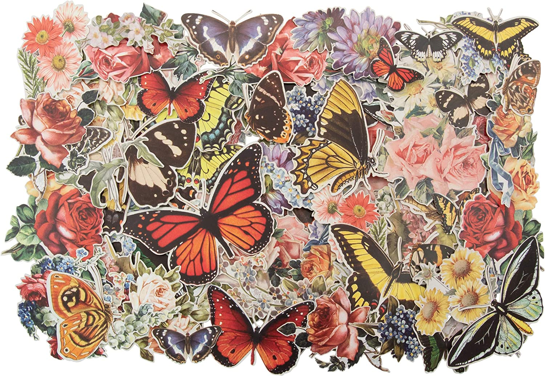 stickers botanica Tim Holtz dising 83 unidades