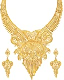 Mansiyaorange Party Collection Jewellery Neckalce Sets for Women (One Gram Golden)
