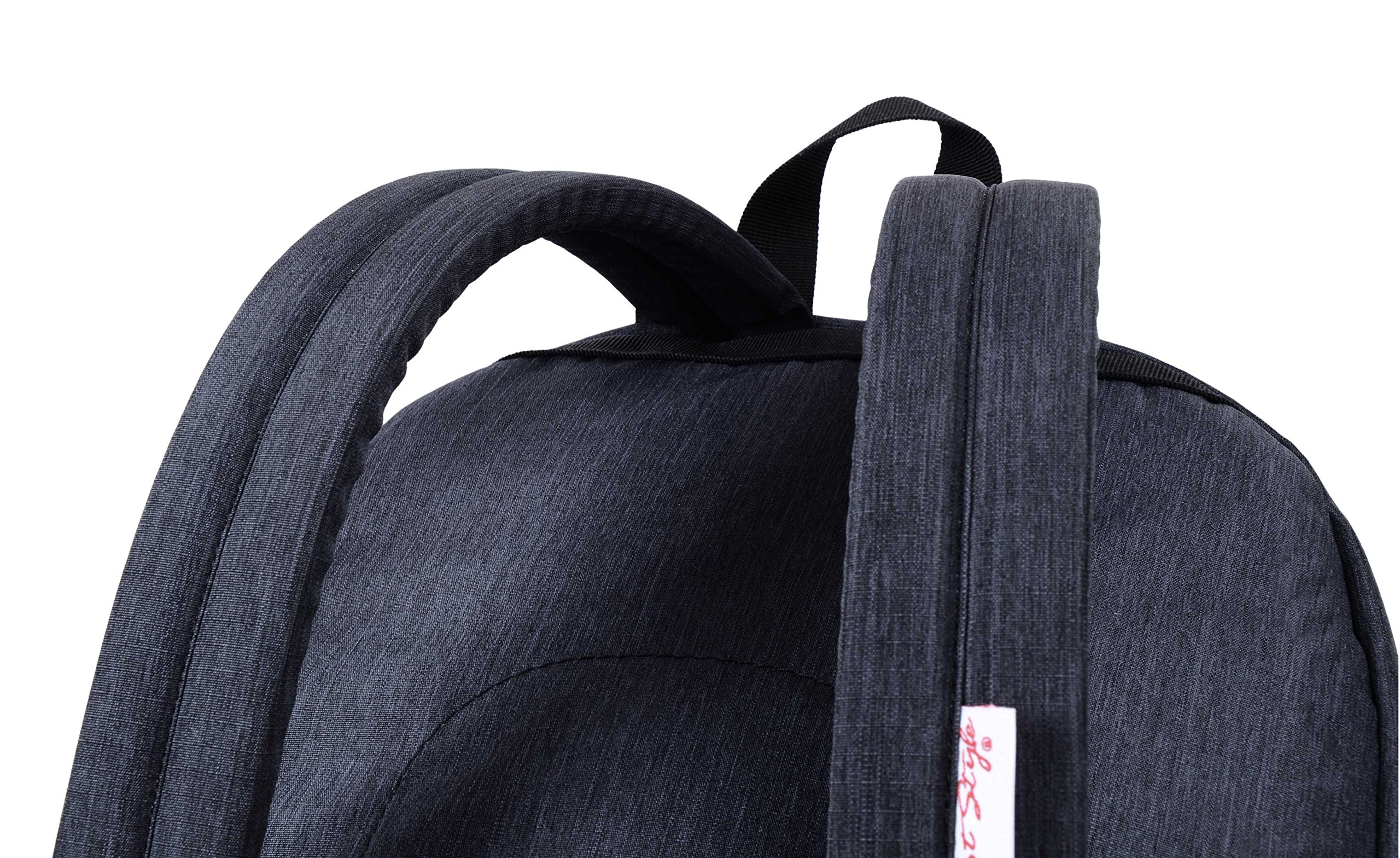 936Plus College School Backpack Travel Rucksack | Fits 15.6'' Laptop | 18''x12''x6'' | Black by hotstyle (Image #6)
