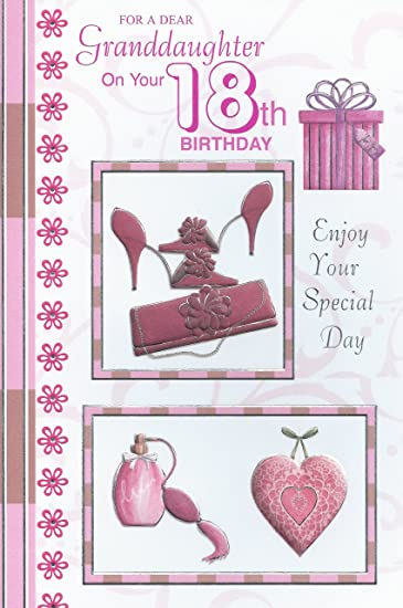 Amazon for a dear granddaughter on your 18th birthday card for a dear granddaughter on your 18th birthday card bookmarktalkfo Images