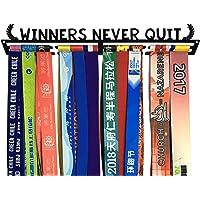 Crownyard – Soporte para medallas – Ganadores Nunca salen de la Medalla. Percha de Ropa para medallas para Corredores de Carreras de maratón, triatlón, Gimnasia u Otros Deportes