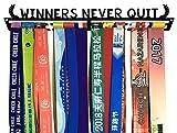 Crownyard Medal Holder - Winners Never Quit Black