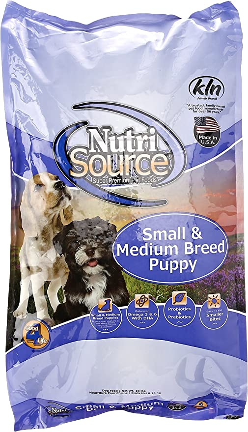 Amazon Com Nutrisource Dry Dog Food Small Breed Puppy Chicken Rice Formula 18 Lb Pet Supplies