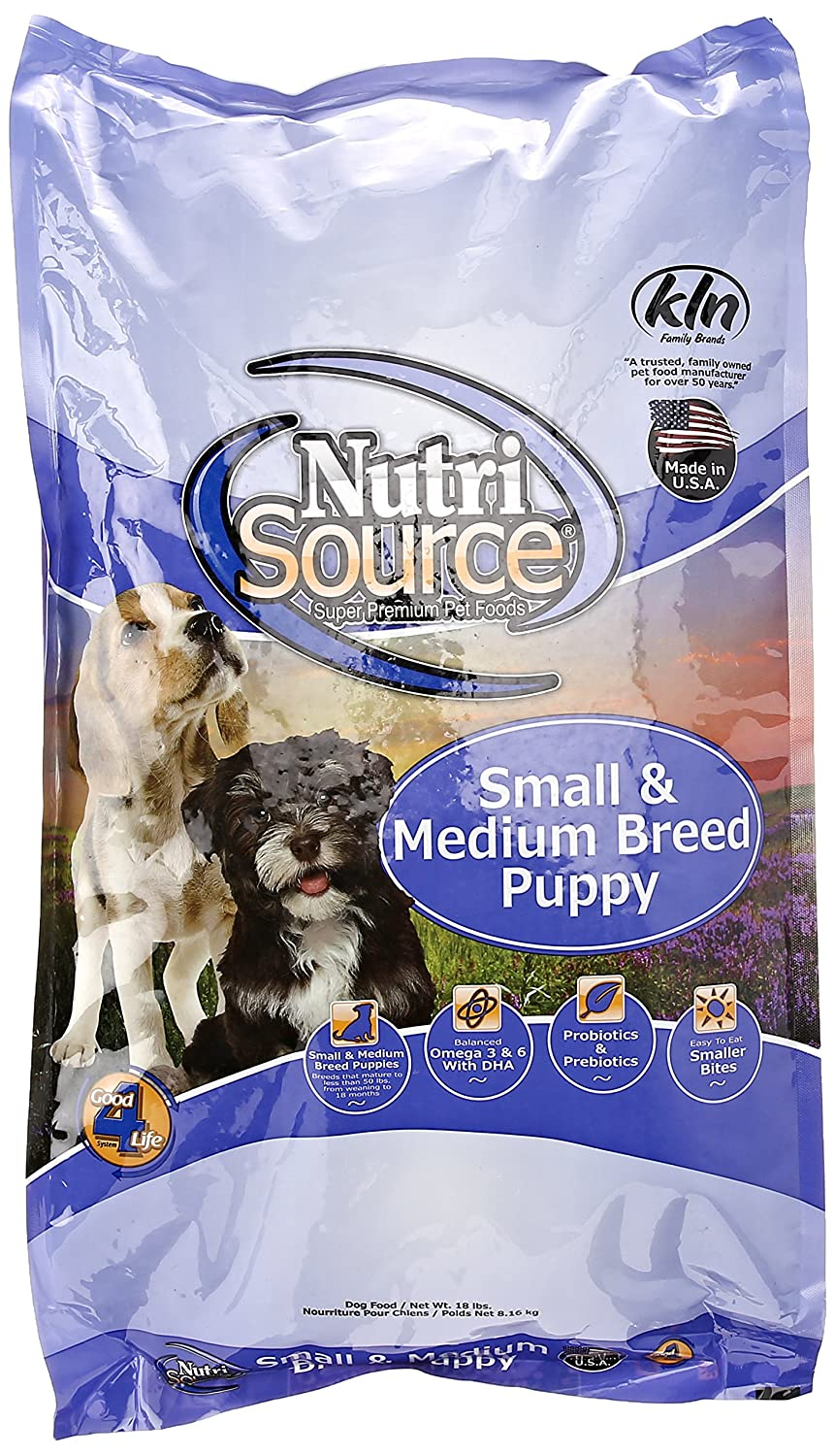 Nutrisource, Dry Dog Food, Small Breed Puppy Chicken Rice Formula, 18 Lb