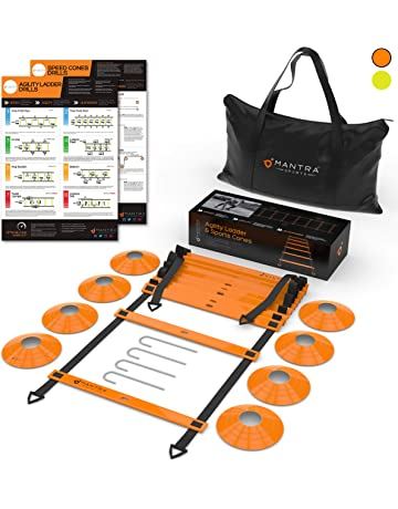 d110ce615d 20ft Agility Ladder & Speed Cones Training Set | Exercise Workout Equipment  To Boost Fitness &