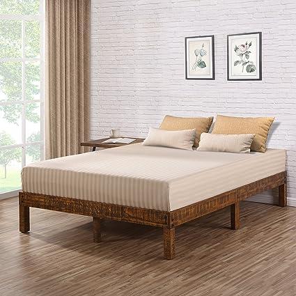 Amazoncom Olee Sleep Vc14sf01k 14 Inch Solid Wood Platform Bed