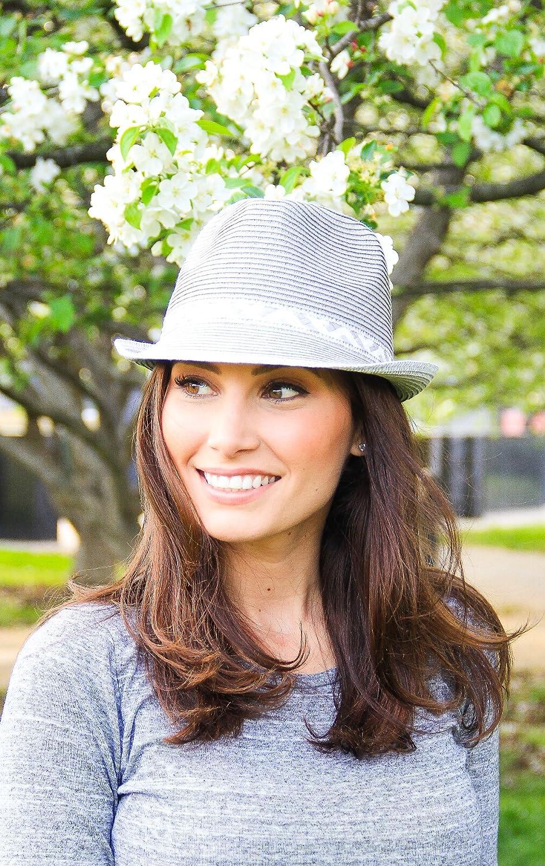 Funky Junque UPF50 Adjustable Multicolor Woven Pattern Short Brim Fedora Hat