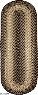 product image for Rhody Rug Ellsworth Indoor/Outdoor Reversible Braided Runner Rug by (2' x 6') Grey/Beige