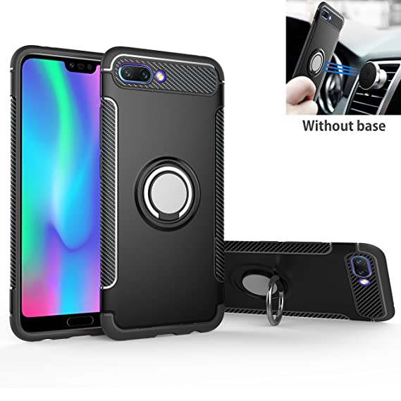 detailed look 16633 188d7 Honor View 10 / V10 Case, Mingwei [with 360 ° Kickstand] Rotating Ring Case  [Dual Shockproof] Protection Cover Compatible with [Magnetic Car Mount] ...