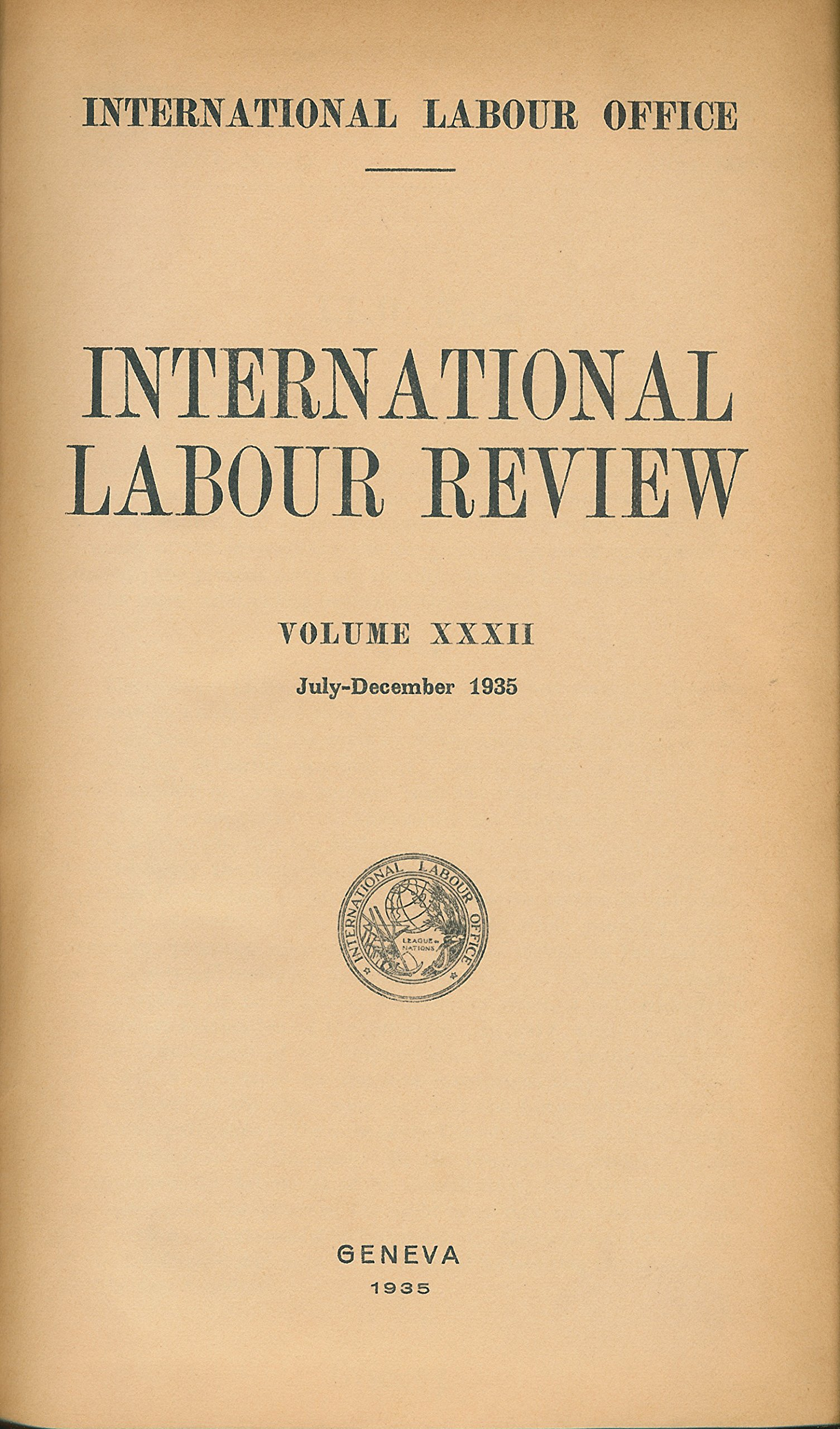 International Labour Review