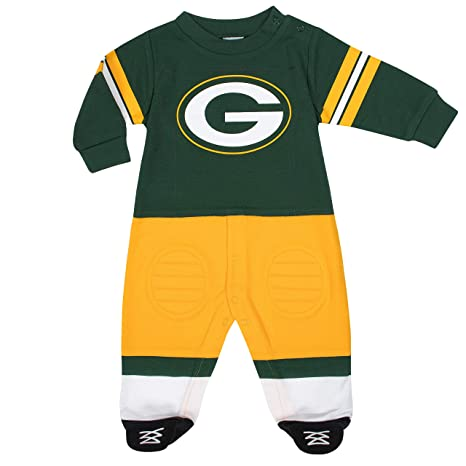 ecae4a34d Image Unavailable. Image not available for. Color  NFL Green Bay Packers  Unisex-Baby Footysuit Coverall ...