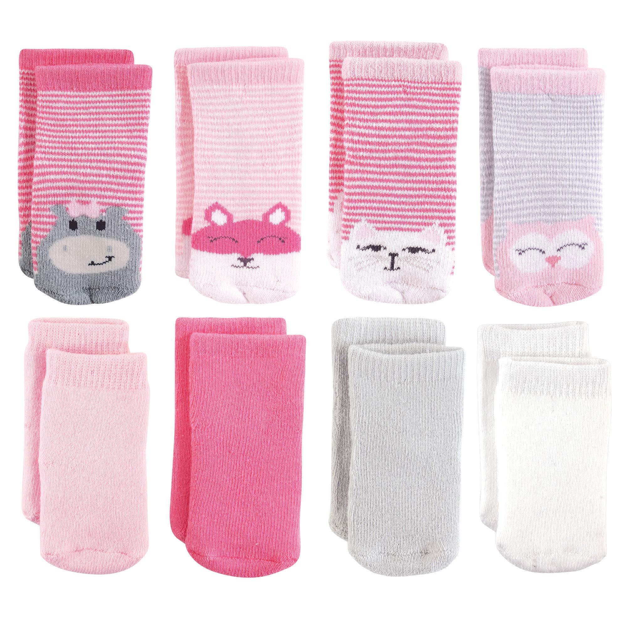 Luvable Friends Baby Basic Socks, Hippo Cat