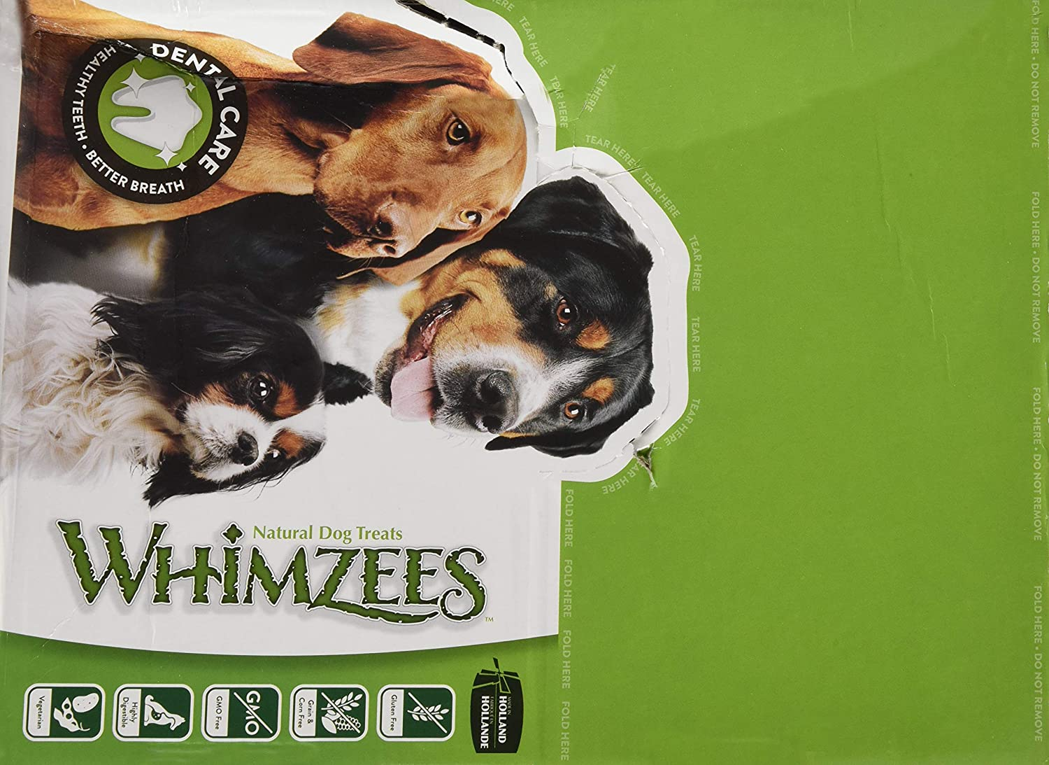 PARAGON 154101 150-Count Box Whimzees Toothbrush Star for Pets Small
