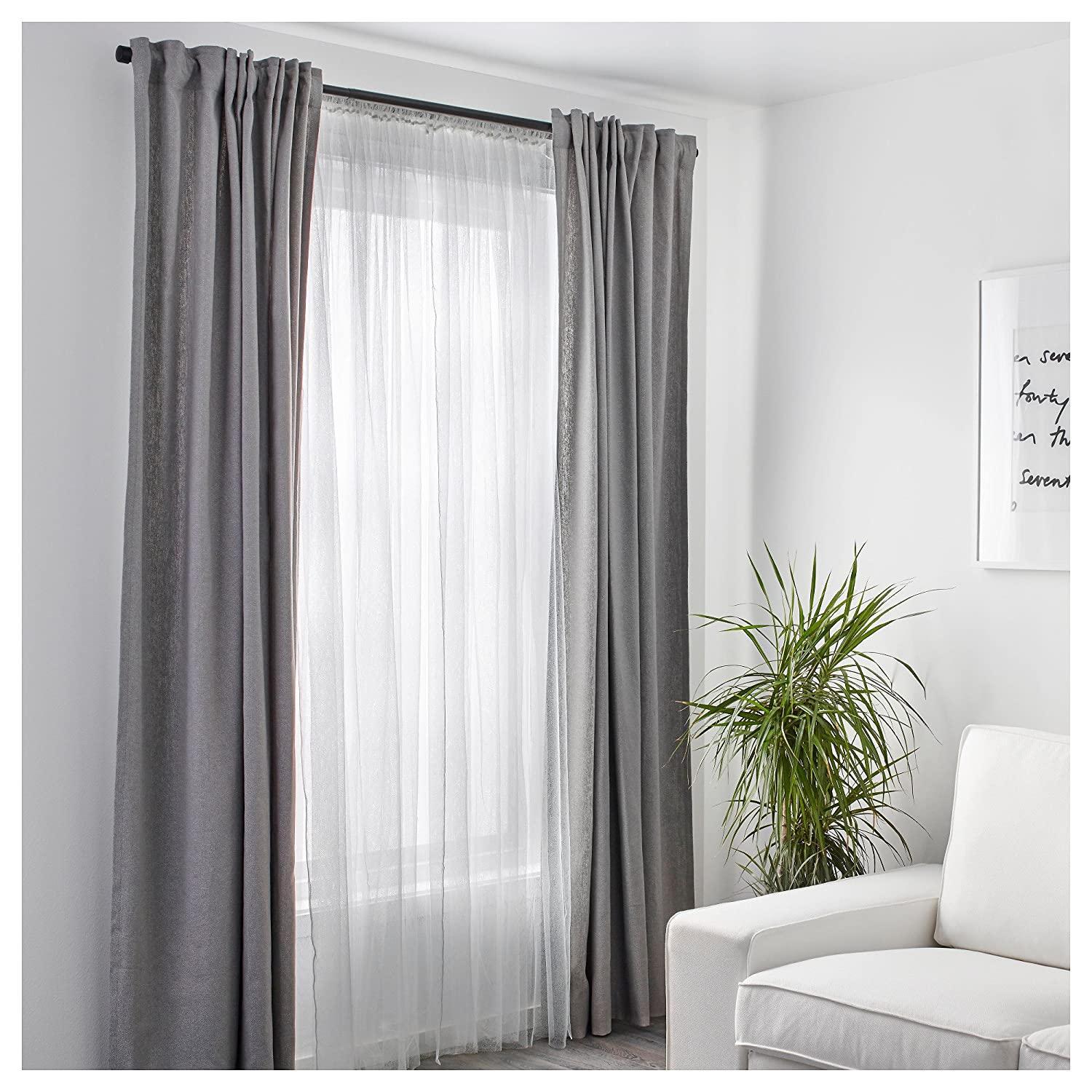 /Network Curtains Pair Ikea LILL/ White