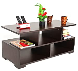 Bluewud Victor Coffee Table with Shelves (Wenge)