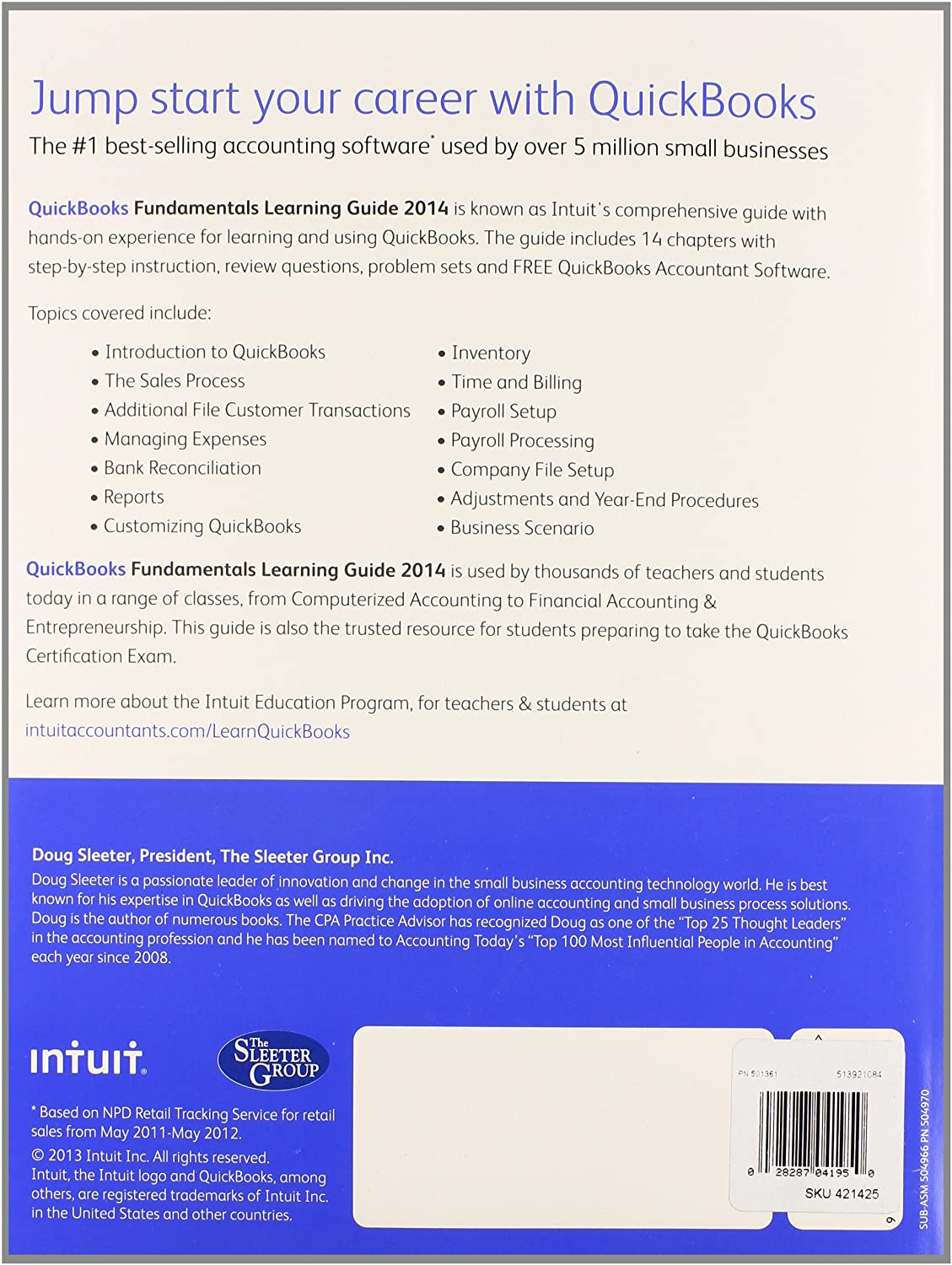 amazon com quickbooks fundamental learning guide 2014 with rh amazon com quickbooks fundamentals learning guide 2014 QuickBooks Part 1