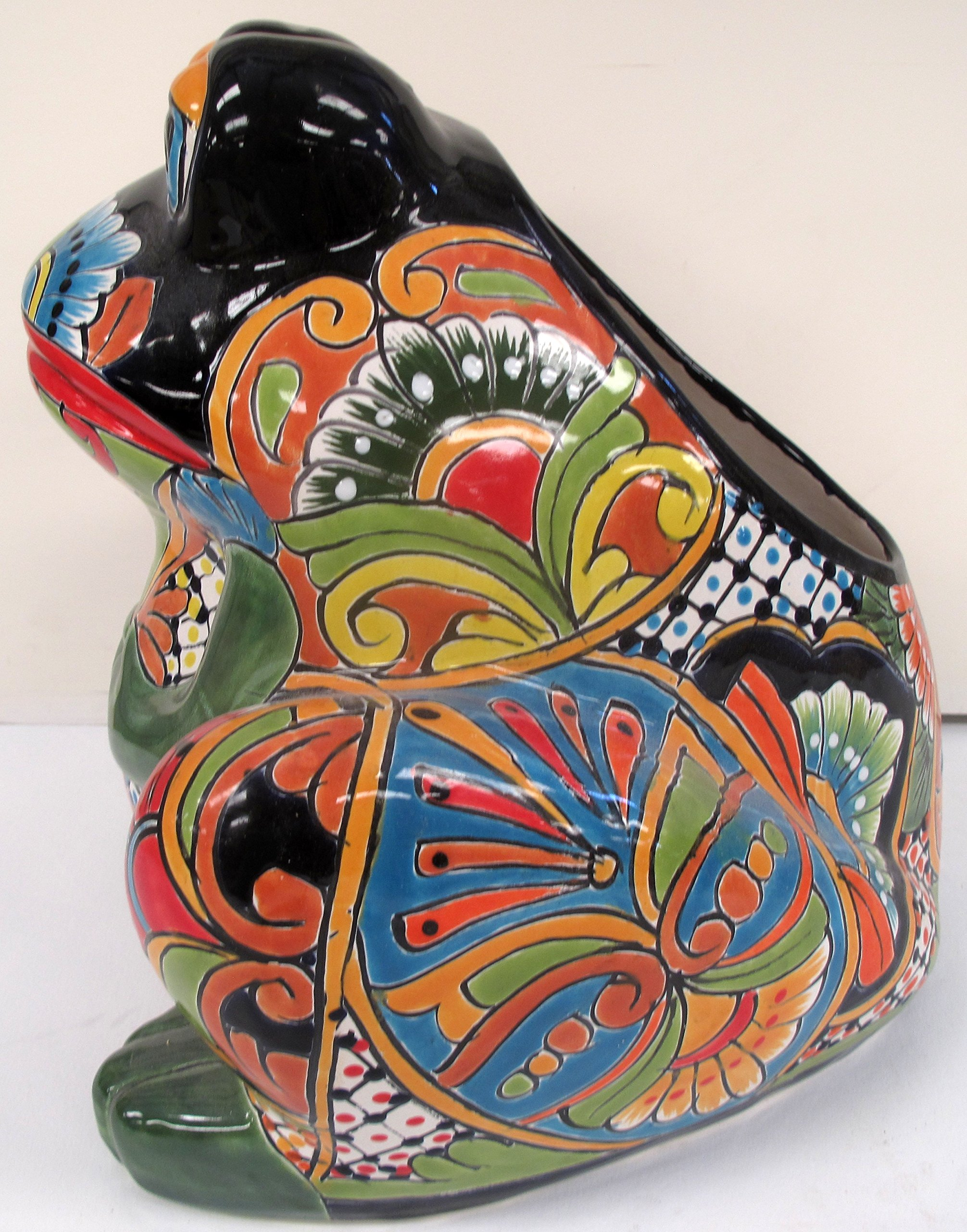 TALAVERA FROG PLANTER (LARGE)