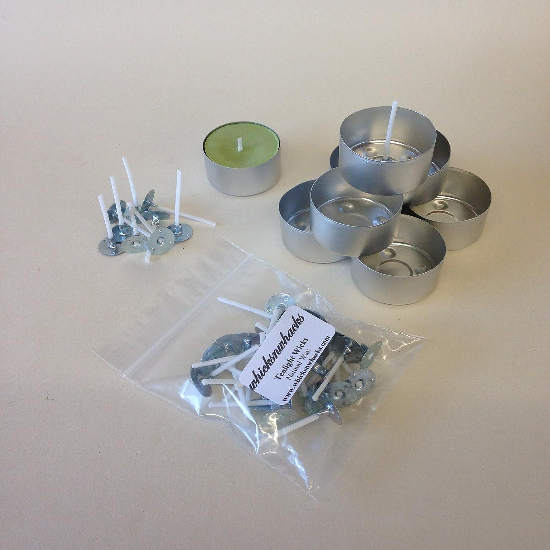 whicksnwhacks® 25 x Qualität Folie Teelicht Tassen + Wachsherzen ...