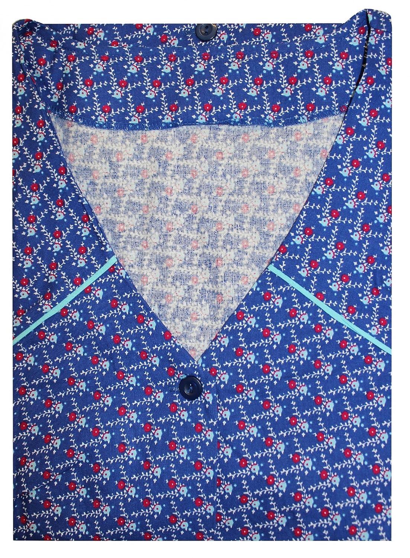 Tobeni® Kittelschürze Knopfkittel 100 Baumwolle Bunt oder Schwarz-Weiss